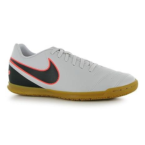 Nike Tiempo Rio 3 Fútbol Sala de fútbol Indoor Zapatillas para Hombre  Platinum BLK fútbol cdd3b7f381814