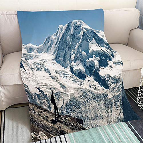 BEICICI Comforter Multicolor Bed or Couch Liskamm Lyskamm 4527m Mountain Peak in Pennine Alps XXIV Fashion Ultra Cozy Flannel Blanket