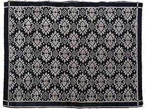 Doble cara Arya Riley negro/gris de chenilla alfombra (3'10x 5' 10)