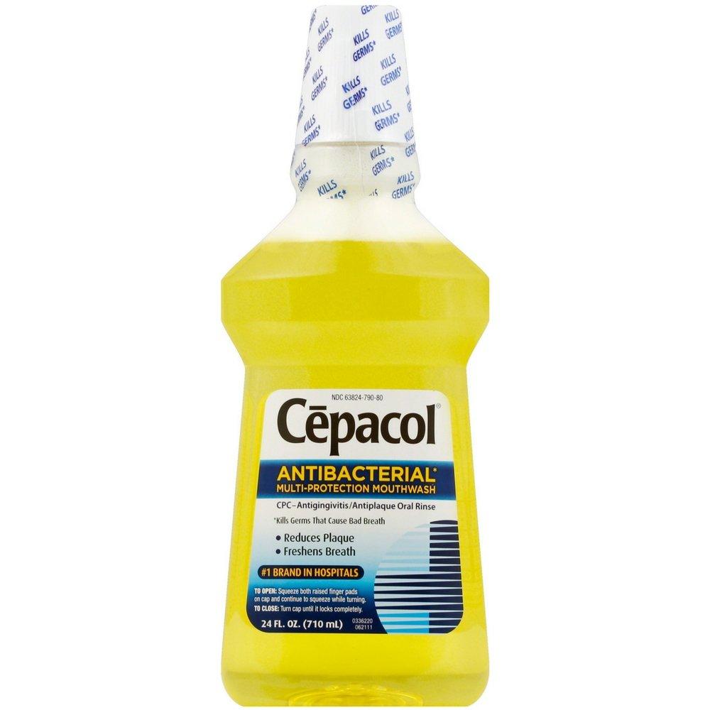 Cepacol Antibacterial Mouthwash, Gold, 48oz (2X24oz)