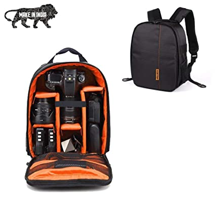 Buy SMILEDRIVE® Waterproof DSLR Backpack Camera Bag, Lens Accessories Carry  Case for Nikon, Canon, Olympus, Pentax   Others-Made in India Online at Low  ... 69aa09a0c3