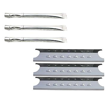 b.q.s barbacoa partes recto tubería de acero inoxidable quemadores y placas de calor (