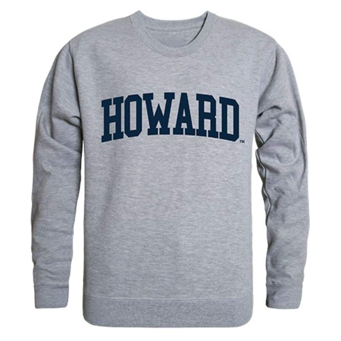 Howard University Game Day Crewneck Pullover Sweatshirt Sweater Heather Grey Small by W Republic
