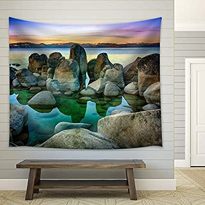 Clear Water and Stones of The Lake Tahoe, Created Just For You, Alluring Print