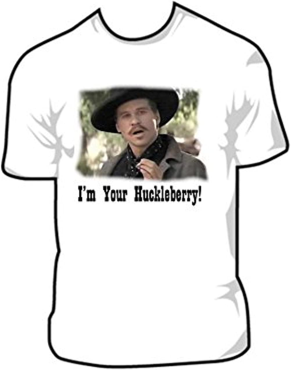 Doc Holliday Tombstone I'm Your Huckleberry Vintage Men/'s T Shirt Cotton Black
