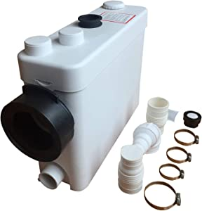 Sanimove Macerating Pump, Toilet Macerator Pump 400W Kitchen Waste Water Disposal Pump, Macerator Sewerage Sump Pump Waste Water Marine Toilet Disposal Laundry