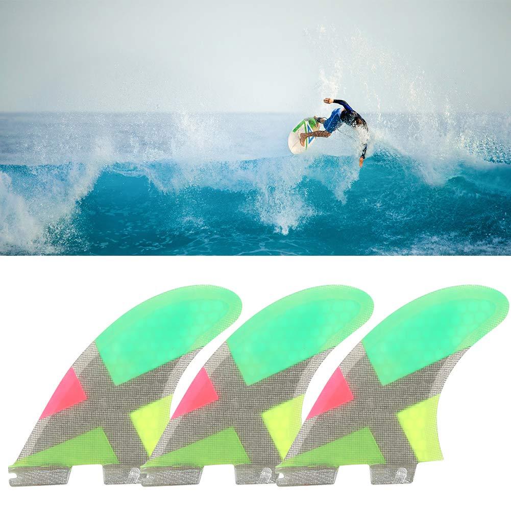 Alomejor Tabla de Surf 3Aletas FCS Fibra de Vidrio Actuación ...