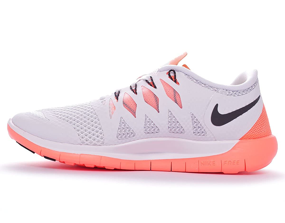 uk availability c6759 50da6 Nike Free 5.0  14 Women s chaussure de course à pied - HO14 Blanc White Black Bright  mango Platinum 36.5  Amazon.fr  Sports et Loisirs