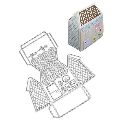 LanLan Plantilla de Corte de artesanía, Molde de la Caja del Caramelo, Plantilla del