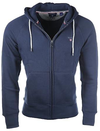 7fdad88259e46 Gant Men s The Original Full Zip Sweat Hoodie Long Sleeve Hooded Jacket