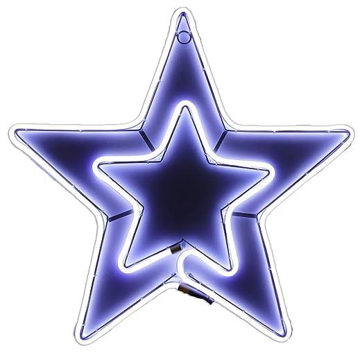 Stella Di Natale Led.Stella Di Natale Tubo Luminoso A Led 54x54 Cm Amazon It