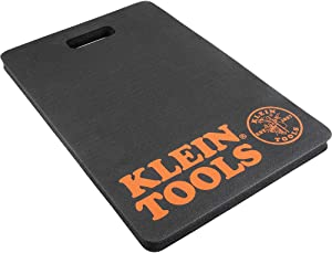 Klein Tools 60135 Kneeling Pads, Adult Mens Soft Thick Closed Cell Soft Foam Professional Tradesman Pro Pads with Handle