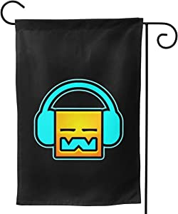 "OTHERS Geometry Dash Festive Garden Flag Front Door Decoration Family Banner Fashion 28""x40"""