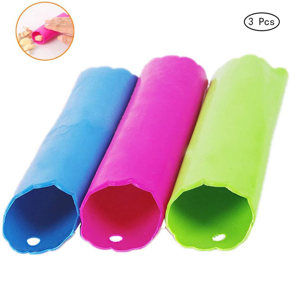 Color Al Azar 3 PCS Silicona Pelador De Ajos Ajo Peeling Tubo Herramienta De La Cocina