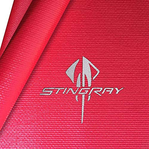 Corvette Fender Mat with C7 Stingray Logo (Red with Silver Logo)