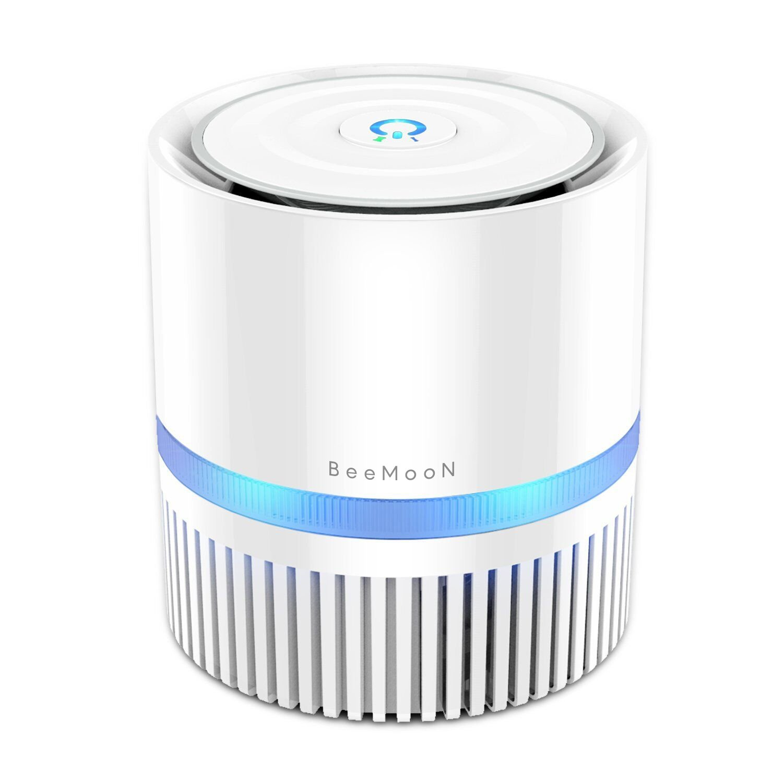 Air Purifier, Beemoon Mini Air Cleaner with True HEPA Filter Removing Allergens, Dust & Pollen, Smoke and Pet Dander, 100% Ozone Freemoke and Pet Dander