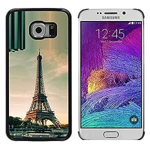 TopCaseStore / la caja del caucho duro de la cubierta de protección de la piel - Architecture Paris Eiffel Tower Day - Samsung Galaxy S6 EDGE SM-G925