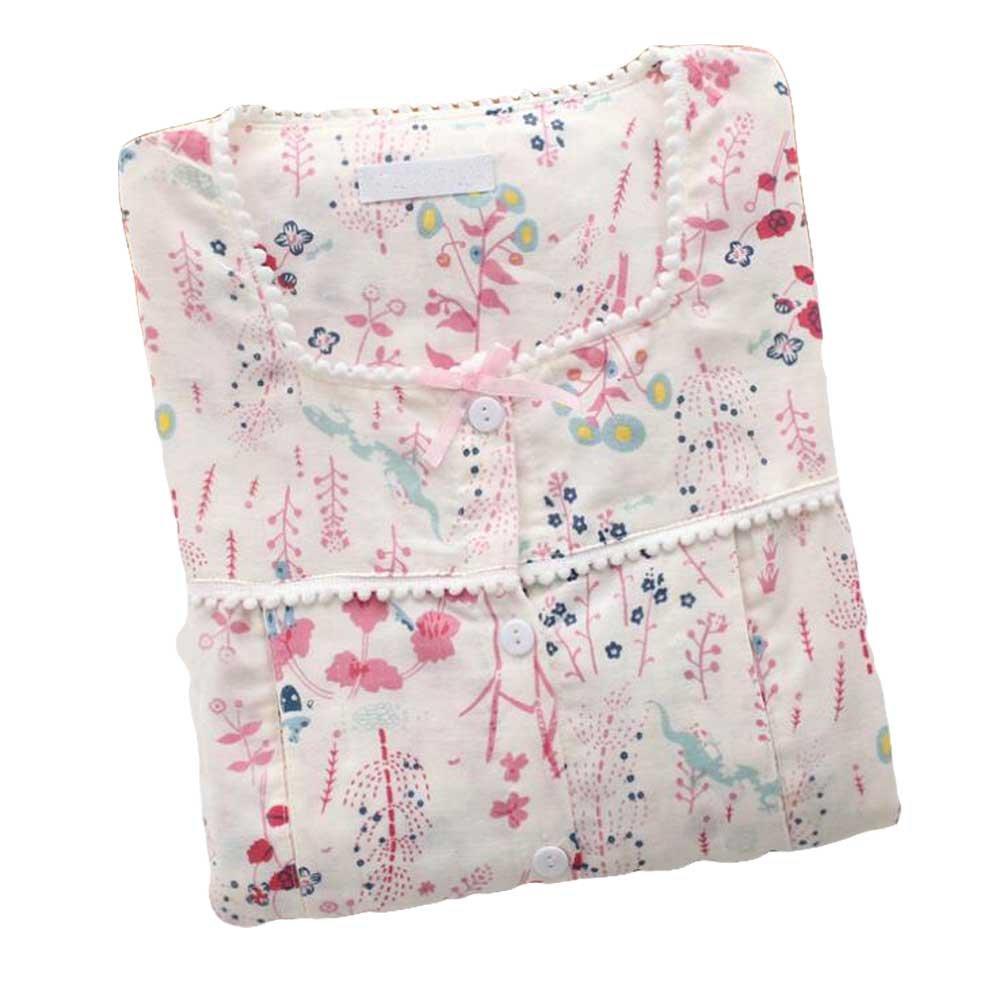 [Flower] Cotton Maternity Pajamas Set Nightwear Breastfeeding Pajamas Panda Superstore PS-CLO2379268011-DORIS02032
