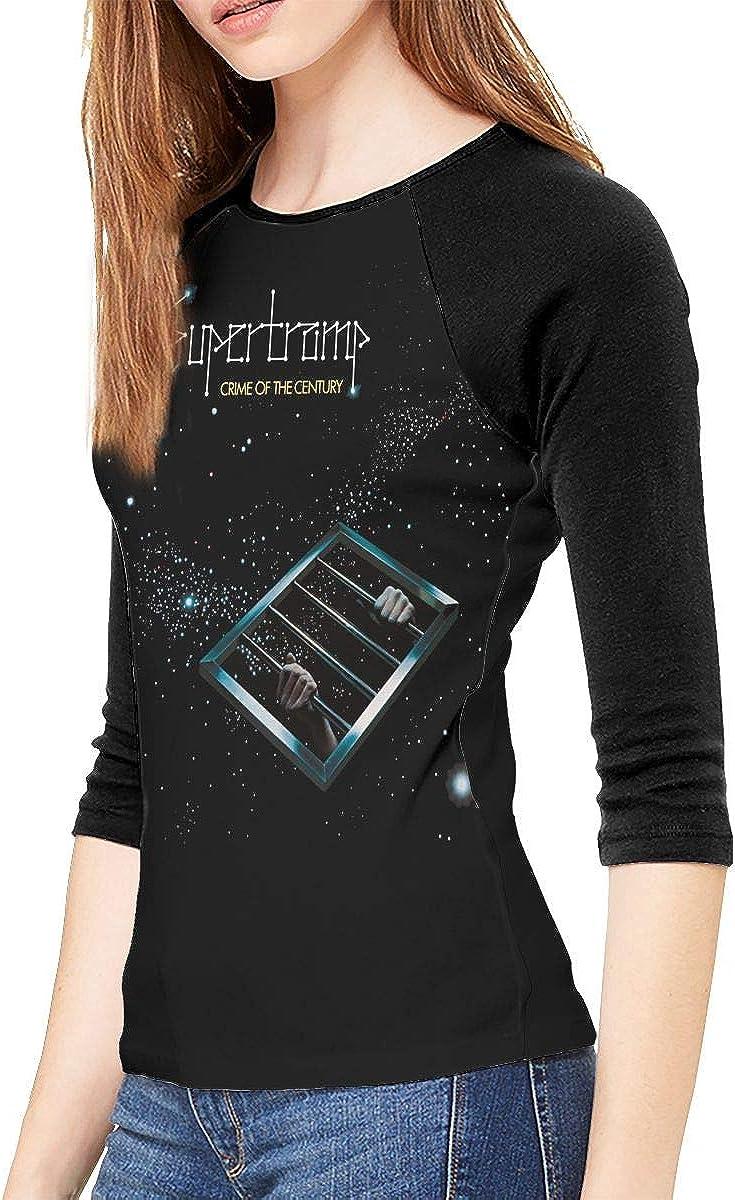 Supertramp Shirt Women 3//4 Long Sleeves Baseball T-Shirt Raglan Sleeve Tops