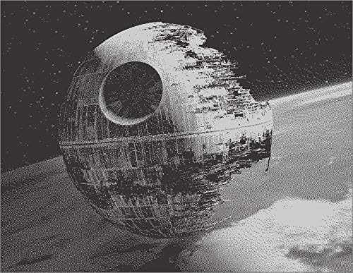 Death Star Metal Painting Poster Star Wars Spray Paint ()