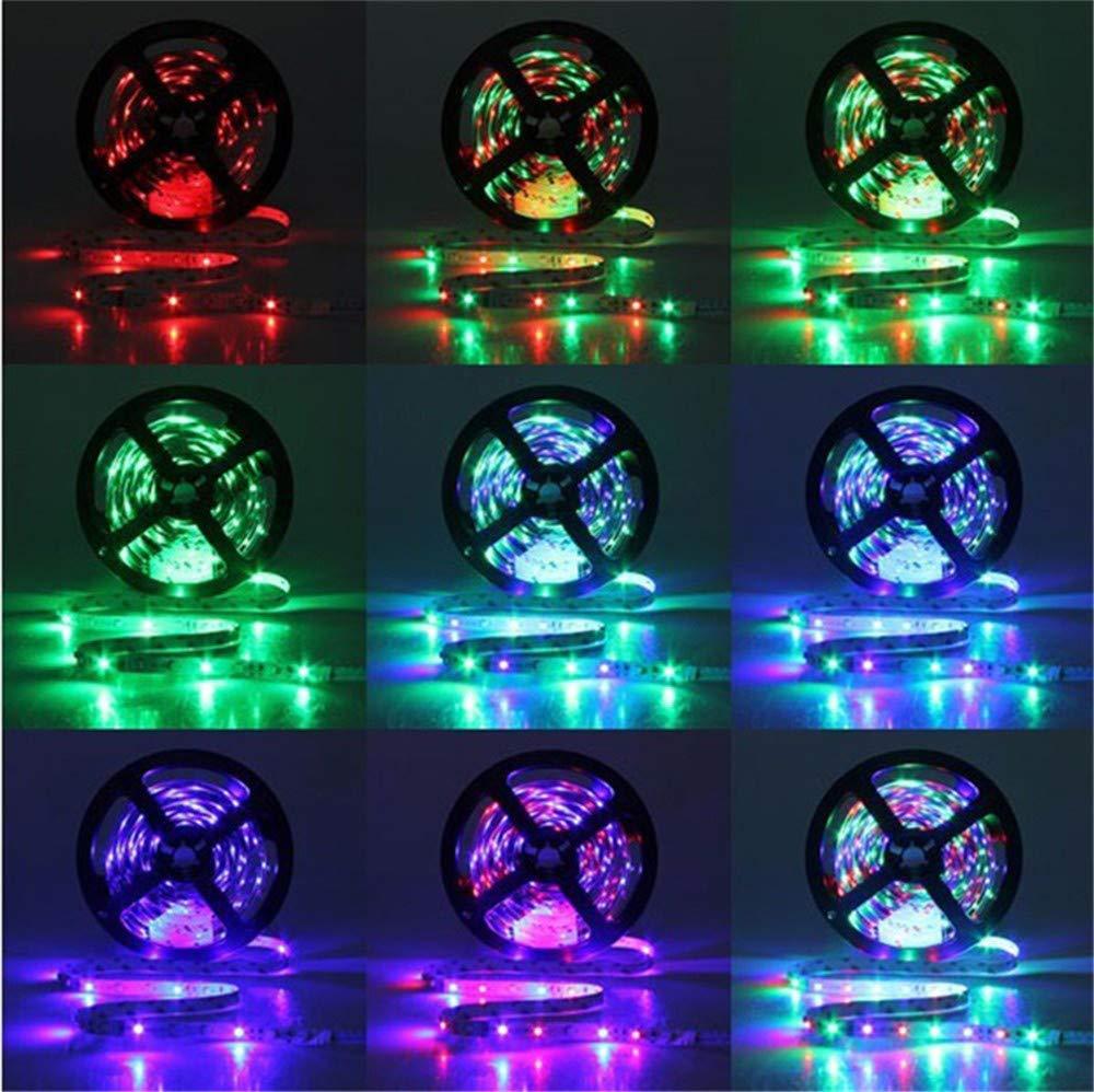 HEVÜY LED Streifen 10M, RGB LED Stripes LED Bänder Farben, 3528SMD-LED, IP33 mit Fernbedienung (Colorful)