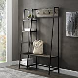 """Walker Edison Furniture Entryway 68""""H Angled Side Hall Tree with Storage - Grey Wash"""