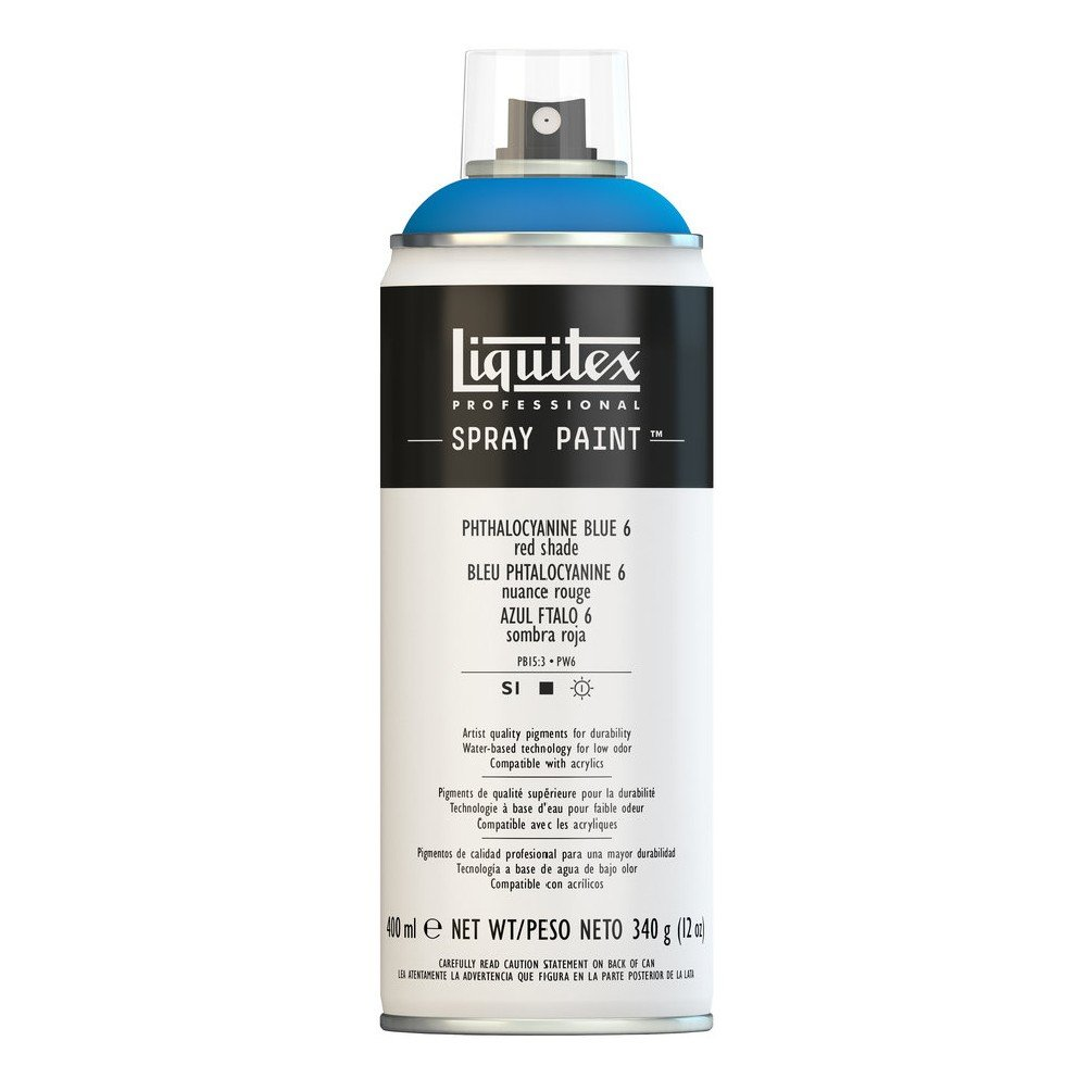 Liquitex プロフェッショナル スプレーペイント 12オンス 400ml Can ブルー 4456316 B008N7HH5S Phthalocyanine Blue 6 (Red Shade) Phthalocyanine Blue 6 (Red Shade)