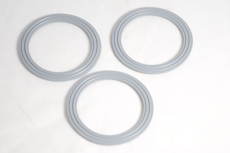 Kenwood WVE.650544 - Juego de 3 anillos de sellado de base de goma para licuadora