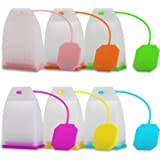 Silicone Tea Infuser, 6 Pack Loose Leaf Tea Filter Bags Strainer with Spoon