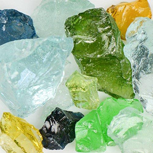(Jewel Mix) Mixed Landscape Glass - American Specialty Glass – Landscaping Glass - 10 lbs, - Specialty Glasses