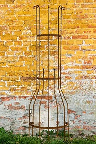 Wandrankgitter Roheisen / Rost H: 200cm Rankgitter aus Metall Rankhilfe