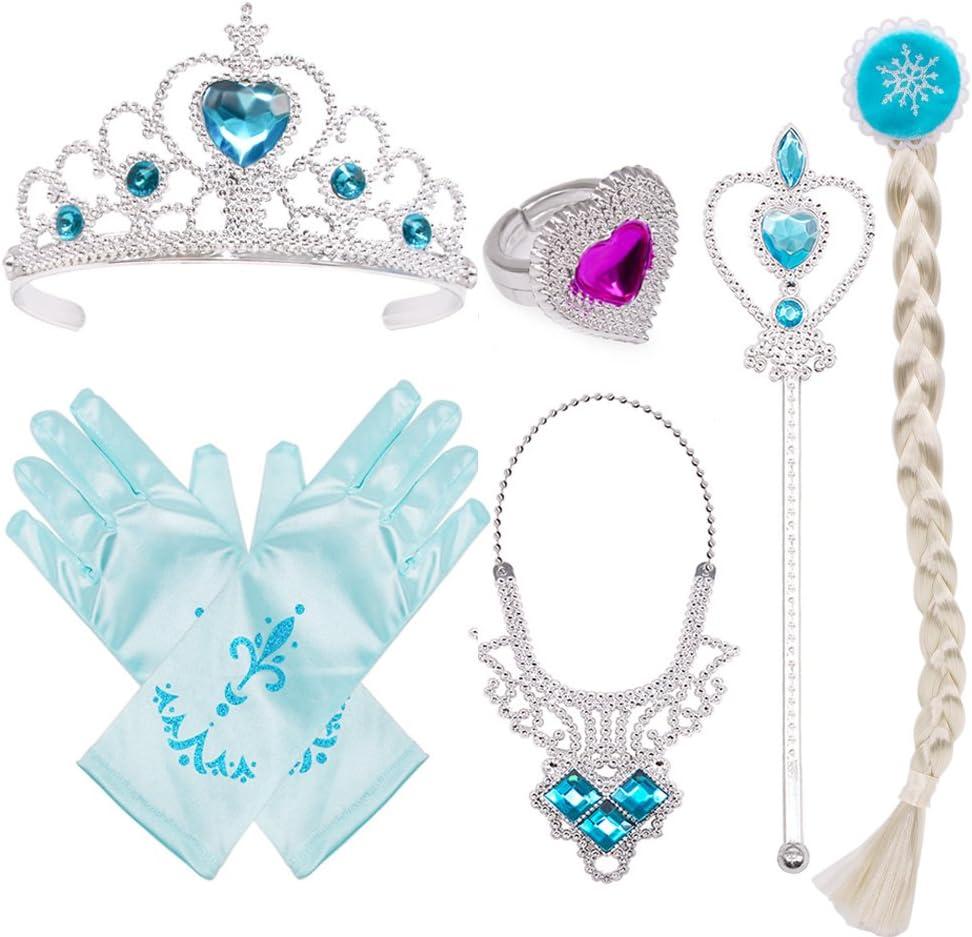 New Beautiful Frozen Princess Queen Elsa Cosplay Costume Gloves// Tiara U Pick