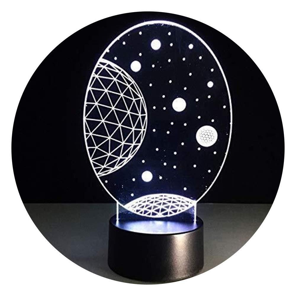 JINXUXIONGDI Visual Stereo Vision 3D Star Table Desktop Star Protector Night Light Home Decoration Led Baby Sleep Bedside Night Light Children Kids Gifts Children's Decoration
