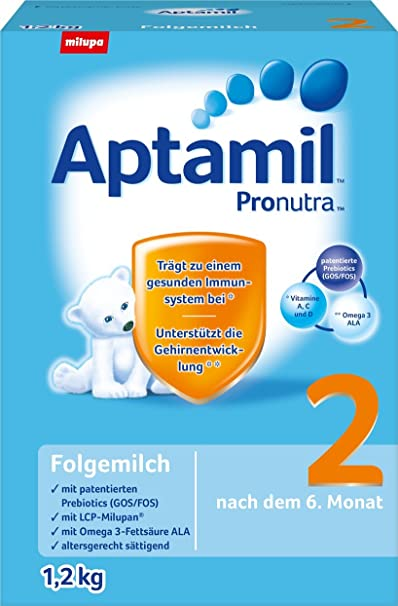 Aptamil 2 Episodio leche, 3-pack (3 x 1,2 kg)