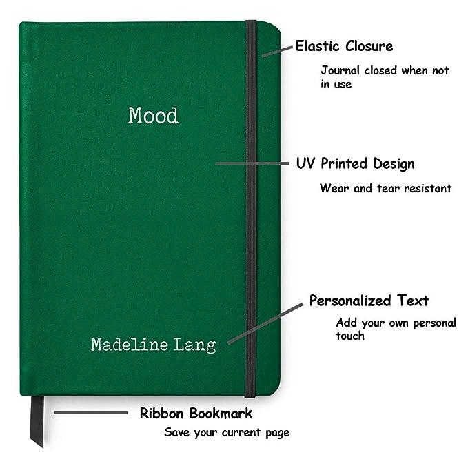 Amazon.com: Mood - Diario de piel A5 con diseño de bala ...