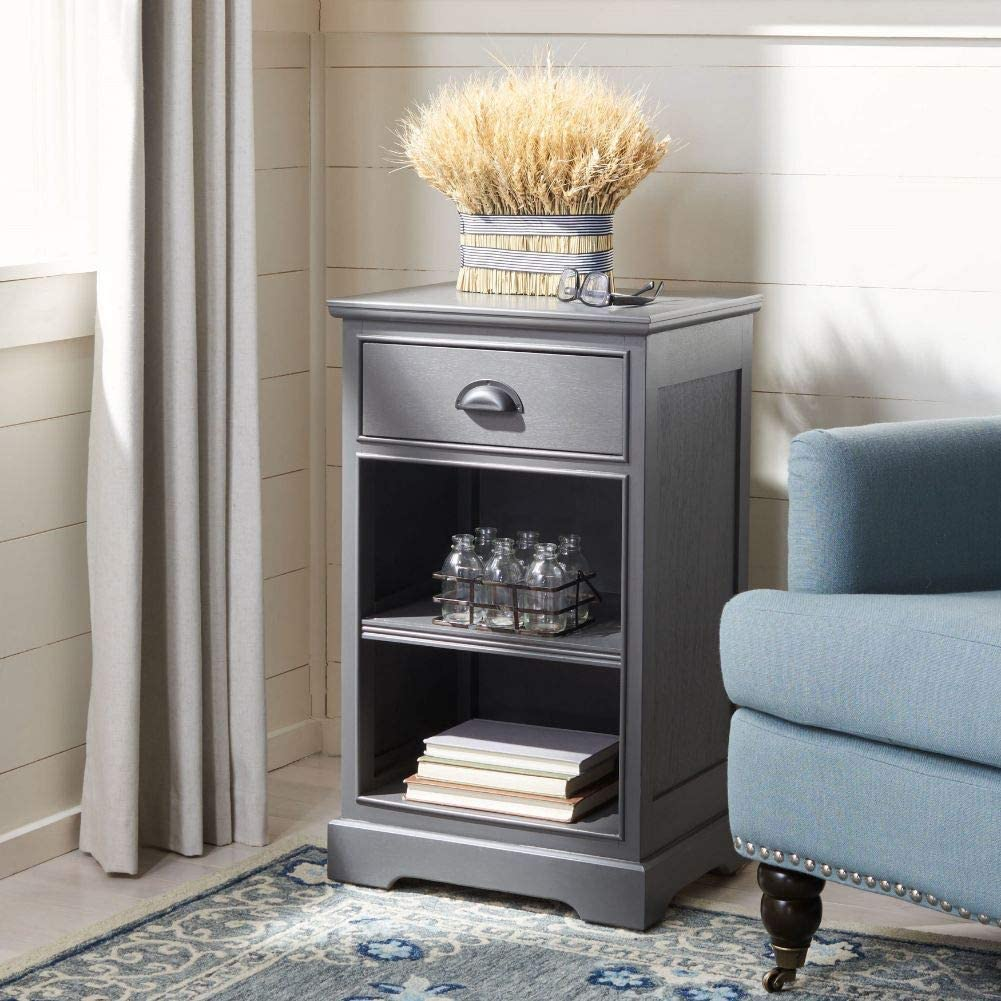 Amazon Com Safavieh American Homes Collection Griffin Grey Side Table Furniture Decor