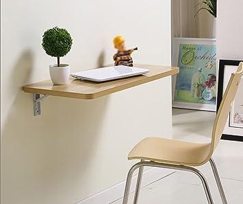 Amazon De Zcjb Klapptisch Spanplatte Esstisch Wand Schreibtisch