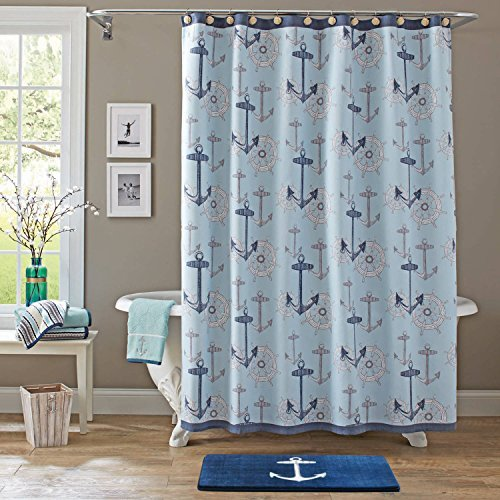 Nautical-Anchors-and-Ship-Wheels-Fabric-Shower-Curtain