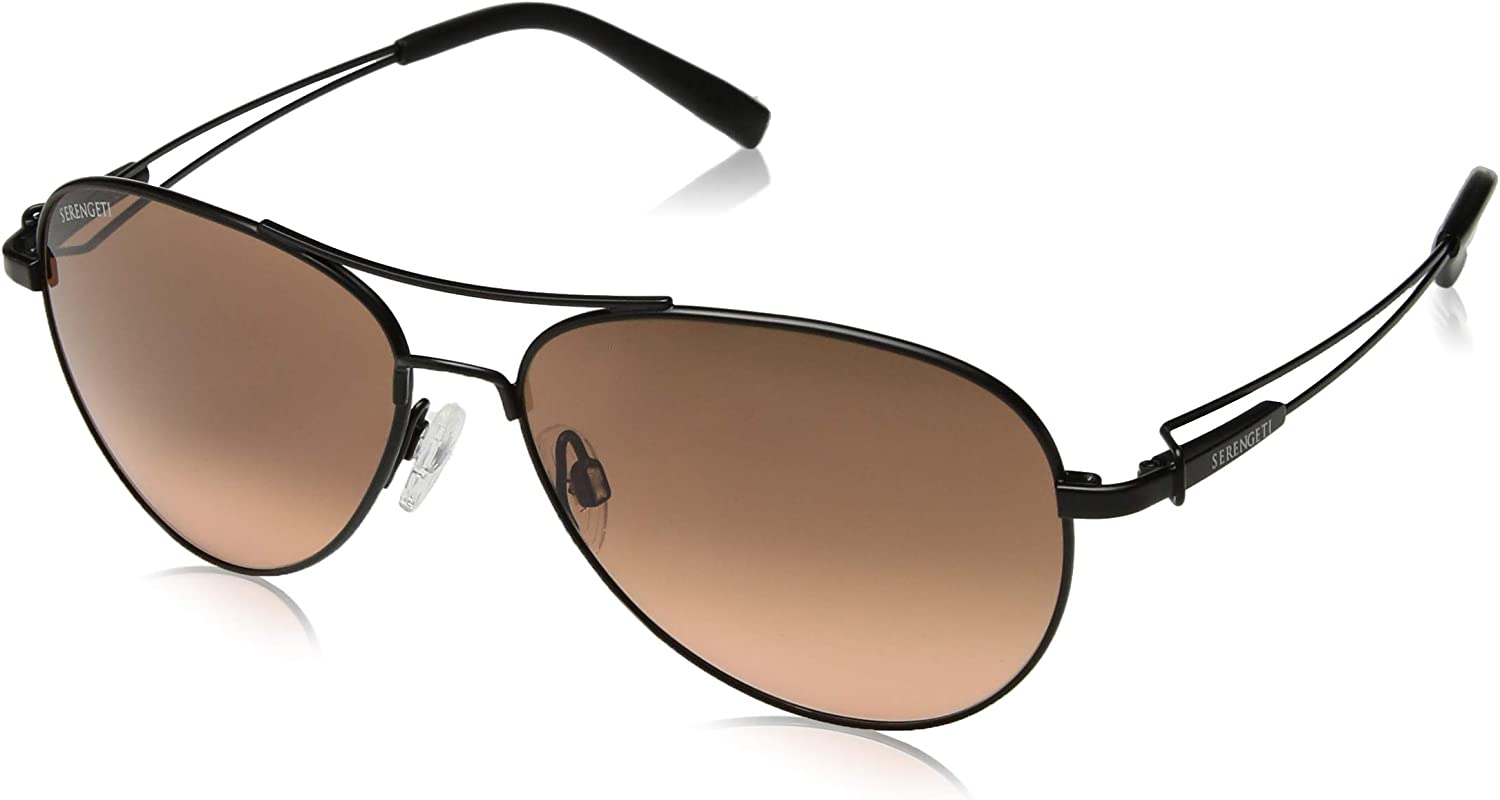 Serengeti Brando Sunglasses, Satin Black Frame, Drivers Gradient Lens