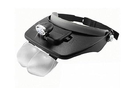 Lenti visiera occhiali lente ingrandimento con led torcia testa