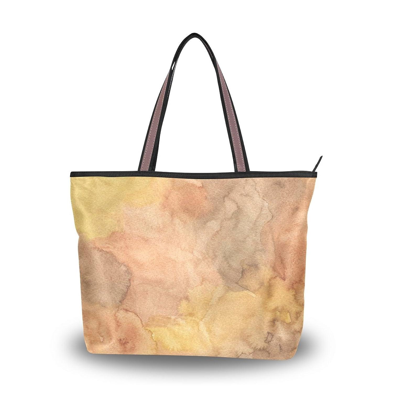 LEEZONE Fashion Microfiber Shoulder Handbags with Golden Watercolor Printing Tote Bags