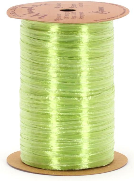 Berwick Offray Pearlized Green Raffia Ribbon 1//4 Wide 100 Yards
