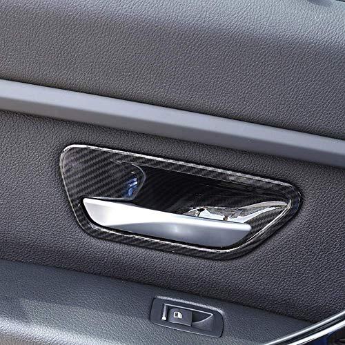 - ABS Plasti Interior Door Handle Grab Bowl Cover Trim for BMW 3 4 Series f30 f32 f35 316i 318i 320li 2013-2018 Carbon Fiber