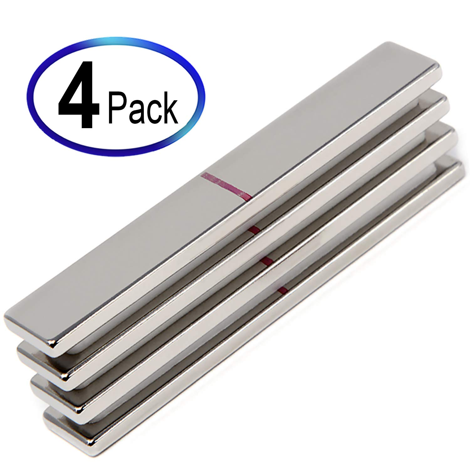 4 Pieces of CMS Magnetics Super Strong Neodymium Rare Earth Magnet 3' x 1/2' x 1/8' Grade N45. For DIY Stamping Using Creative Corners from Misti Inc. NB032-45N-4