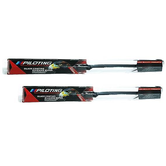 iiipiloting silicona conexión directa limpiaparabrisas delantero parabrisas armas: Amazon.es: Coche y moto