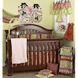 Cotton Tale Designs Here Kitty Kitty Girl's Crib Bedding Set, 8 Piece