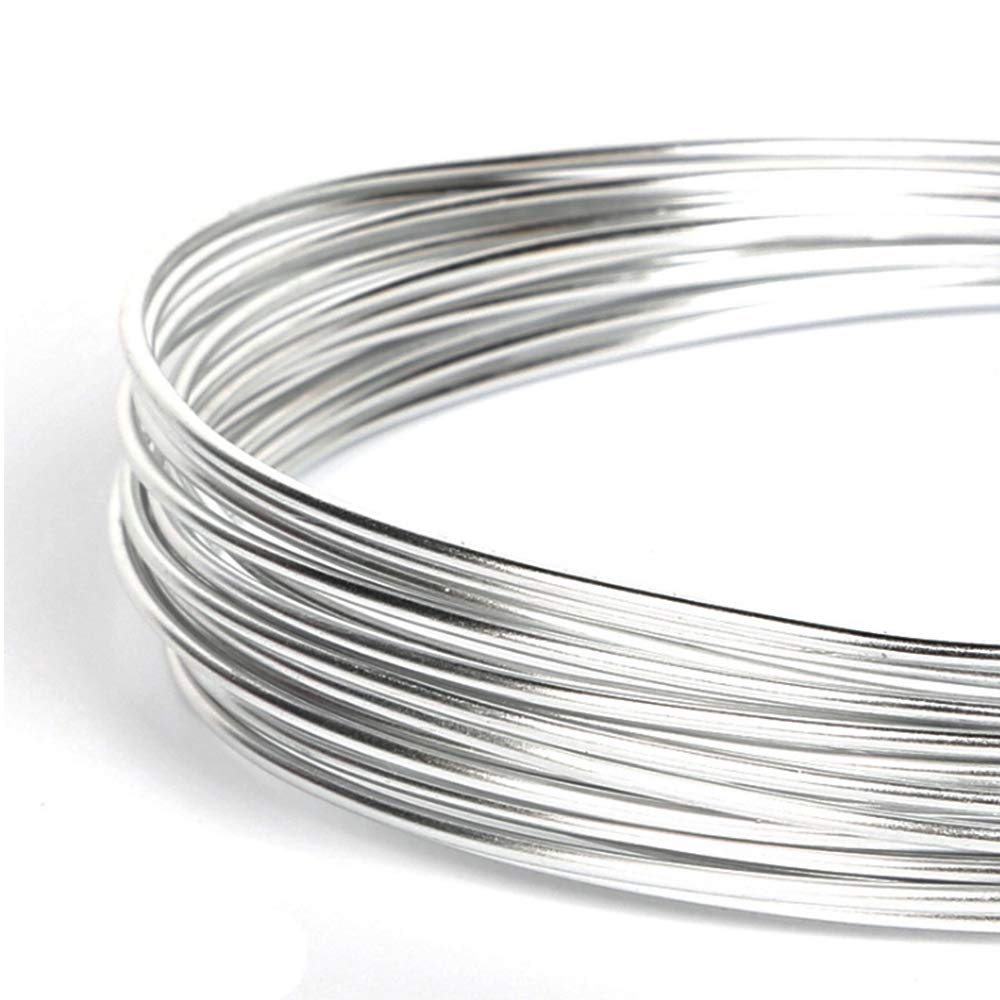 Jewelry Making 2mm Thickness, Silver Doll Skeleton Famgee 65.6 Ft Silver Aluminum Wire Bendable Flexible Metal Craft Wire for DIY Manual Arts Sculpture