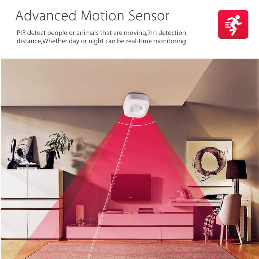 CYBERNOVA Smart Wireless 2.4GHz WiFi PIR Motion Detection Sensor,Work with IFTTT