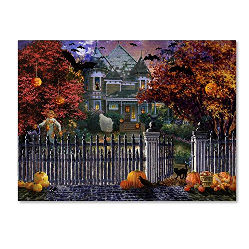 Halloween House by Nicky Boehme, 14x19-Inch Canvas Wall Art (Wall Art Halloween Led)