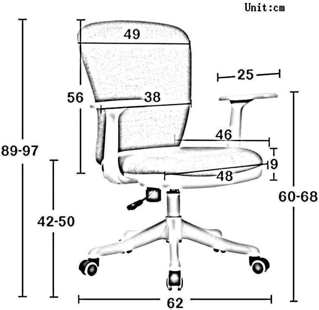 Xiuyun kontorsstol spelstol tyg dator svängbar stol, studiehiss lärande datorstol enkel kontor ryggstöd stol med ryggstöd och armstöd skrivbordsstol (färg: A) a